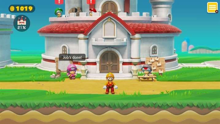 Captura de Tela do modo história de Super Mario Maker 2