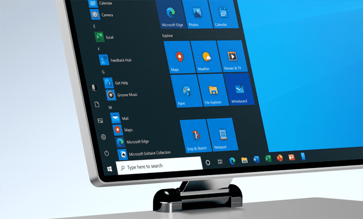 Monitor de computador com Windows 10